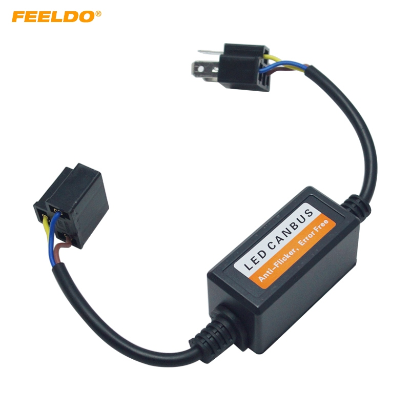 Car Lights Buy Cheap Feeldo Car Led Headlight Error Free Warning Canceller Plug For H4 Hi/lo Headlamp Canbus Error Free Load Resistor Removing Obstruction Car Light Accessories