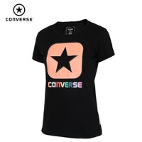 Converse Woman Short Sleeve Running T shirt Breathable Cotton Sports Clothing 10008156