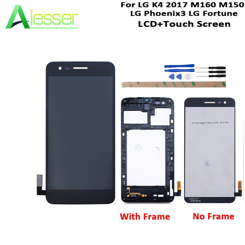 Alesser For LG K4 2017 M160 M150 LG Phoenix3 LCD Display And Touch Screen +Frame +Tools 5.0 inch Replacement For LG K4 2017Alesser For LG K4 2017 M160 M150 LG Phoenix3 LCD Display And Touch Screen +Frame +Tools 5.0 inch Replacement For LG K4 2017