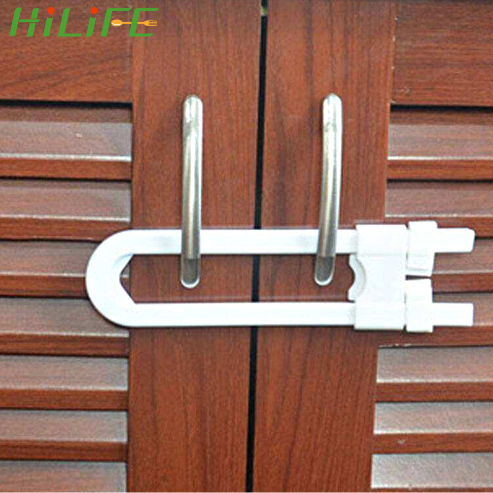HILIFE U Shape Baby Safety Lock Protection Lock Prevent Child From Opening Drawer Cabinet Door Children Safety Lock