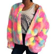 b77fed288024 Popular Rainbow Fur Coat-Buy Cheap Rainbow Fur Coat lots from China ...