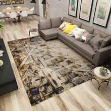 Modern Simplicity Geometry Printing Carpet A Living Room Tea Table Bedroom Bedside Non-slip Land Pad