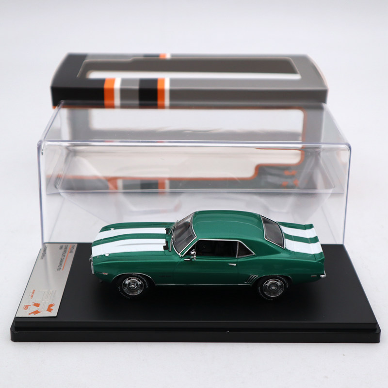 Premium X 1:43 Chevrolet Camaro RS 1969 Metallic Green PRD549 Diecast Models Limited Edition Collection Toys Car image