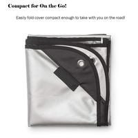 Waterproof Dust Cover Weighted Corners Silver Acrylic Coating Protects From Sun For Drum Musical Instrument Accessories