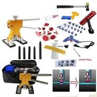 AUTO 51pcs/Set Metal Painless Dent Repair Dent Lifter Glue Puller Tab 20W Glue Machine Hail Removal Paintless Car Dent Repair