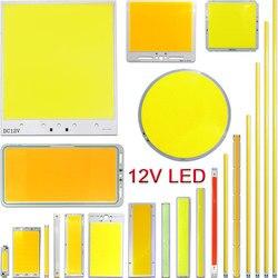 12 В постоянного тока светодиодный COB лампочка светоизлучающий диод 2 Вт-200 Вт круглая COB полоса белый красный синий цвет 12 В светодиодный чип ...
