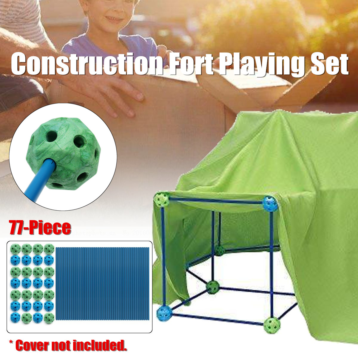 Baby 72 Piece Build Construction Fort Toy Tents for Kids Castle Play Tent House Furniture Children Enfant Room Play Toys PoolBaby 72 Piece Build Construction Fort Toy Tents for Kids Castle Play Tent House Furniture Children Enfant Room Play Toys Pool