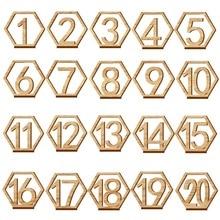 1-20 цифр деревянные знаки Свадебный шестигранный стол номер деревянный стол номера деревенские Свадебные обручальные номера знак