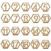 1-20 números de madeira sinais de casamento hexágono número de mesa de madeira números de mesa de noivado rústico do casamento números de assento sinal