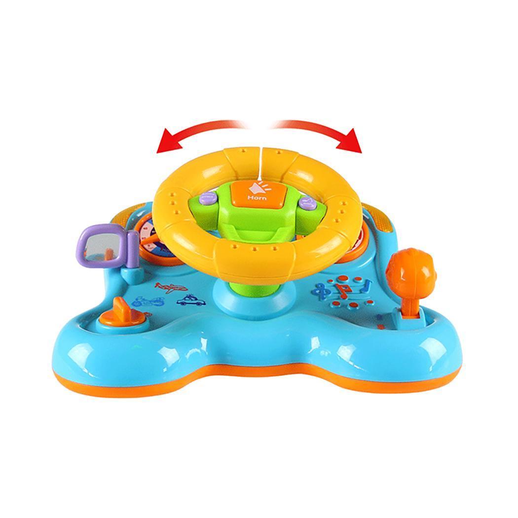 Steering Wheel Shape  Deformation vibration steering wheel deformation light music children's educational toys early education