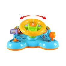 Steering Wheel Shape  Deformation vibration steering wheel deformation light music children's educational toys early education