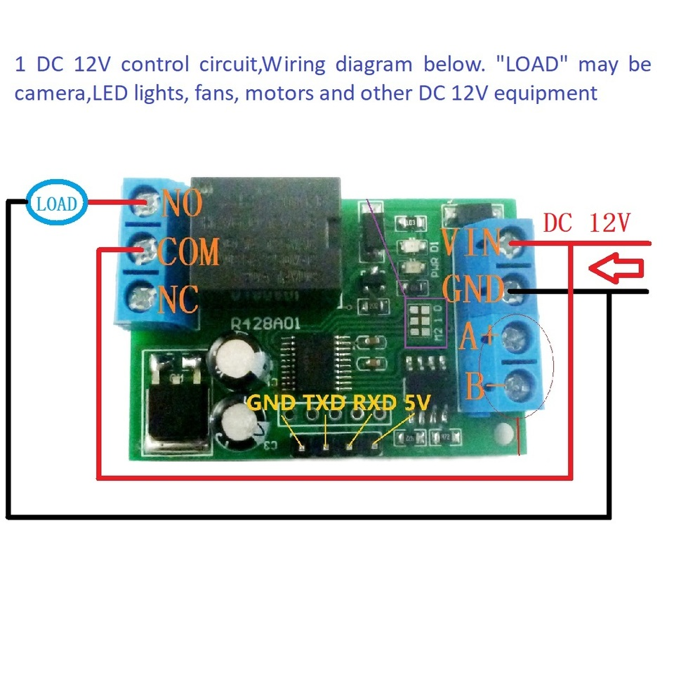 ptz security system wiring diagrams mini dc 12v rs485 delay relay module modbus rtu uart switch board  delay relay module modbus rtu uart
