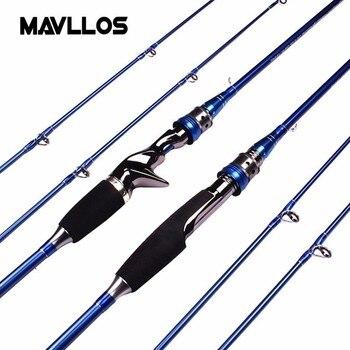 Mavllos M/MH Dicas Casting1.8m-2.1 m Isca de Carbono Vara de Pesca Fiação Peso 3-20g Ação rápida Ultraleve Haste de Água Salgada Fiação