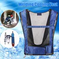 Portable Human-Conditioned Clothing MIG TIG Welding Clothes Cool Clothes HVAC Air Conditioning Cooling Vest Vortex Tube