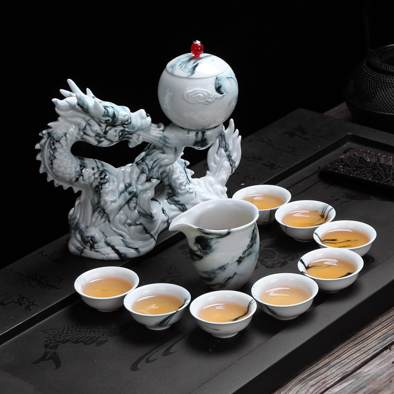 Automatic Tea Set Andrew Dragon Creative Dawdler Make Tea Infusion Of Tea Organ Ceramics Defence Difficult