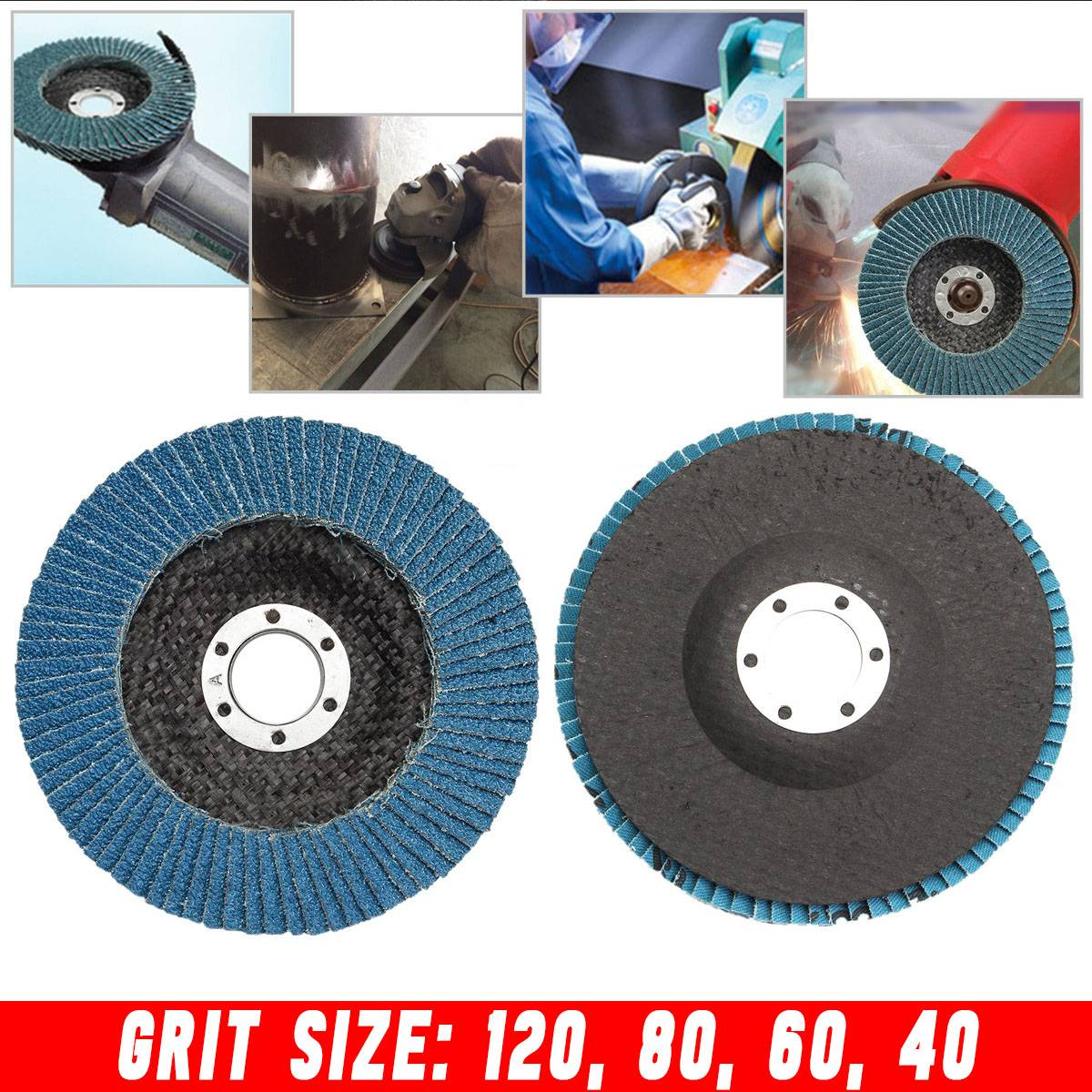 40/60/80/120 Grit Grinding Wheels Flap Discs 100mm 4inch Angle Grinder Sanding Tool 15000 Rpm Abrasive Tools Silicon Carbide