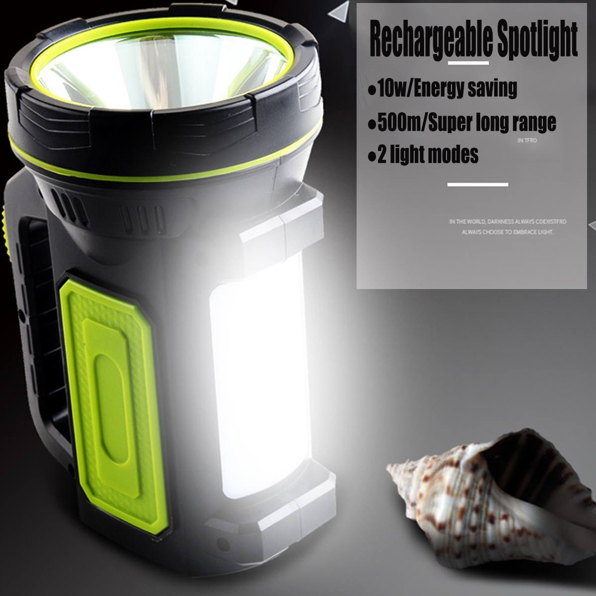 Outdoor Powerful Led Flashlight Rechargeable 10W EU/U.S. Regulations Portable Spot Flashlight Waterproof Handy Hand Flashlight