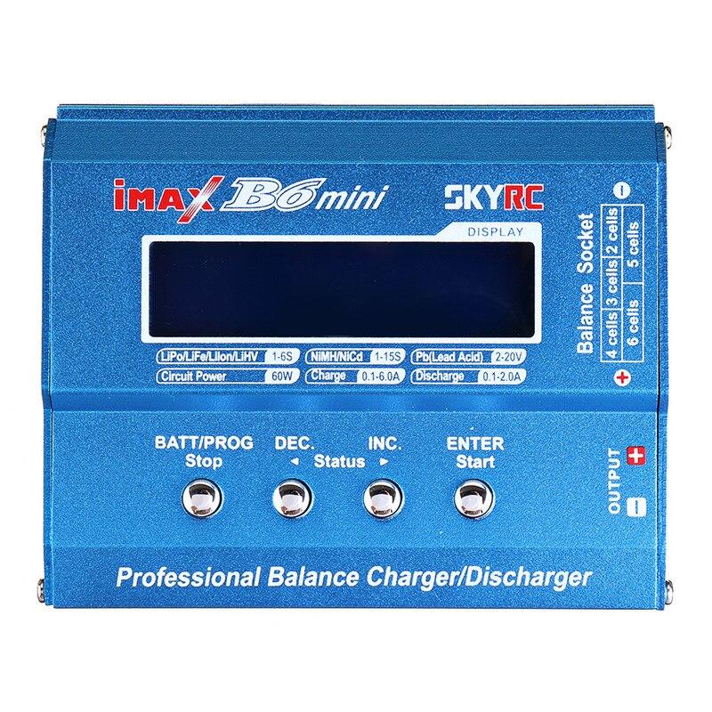 Original SKYRC IMAX B6 60W 6A cargador de equilibrio descargador US/UE/UK/AU con fuente de alimentación para LiPo Li-ion LiFe Nimh Nicd batería - 2