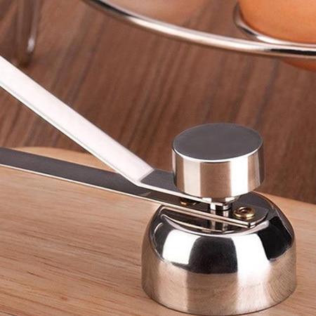 Stainless Steel Egg Opener Measuring Ball Eggshell Top Cracker Boiled Egg Topper Shell Cutter Knocker Raw Egg Cracker Separator 4