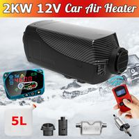 2KW 12V Air Diesels Heater Parking Heater With Remote Control LCD Monitor For RV, Motorhome , Trucks, Boats + English Remote