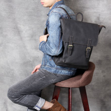 Handmade Men Backpack for laptop Backpacks Large Capacity Vintage Student Backpack Genuine Leather Travel Backpacks for teenager недорого