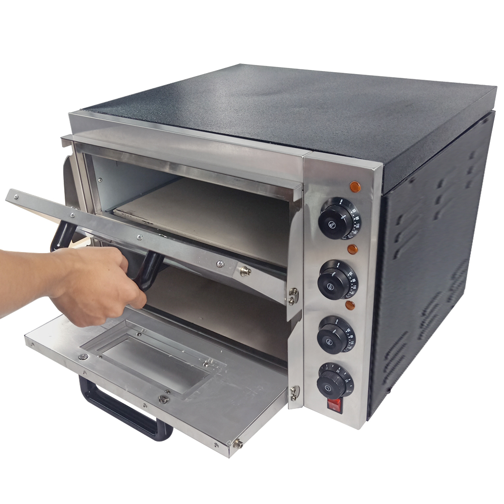 Electric Pizza Oven With Timer Thermosat Baking Oven Stone Bakery Oven 16