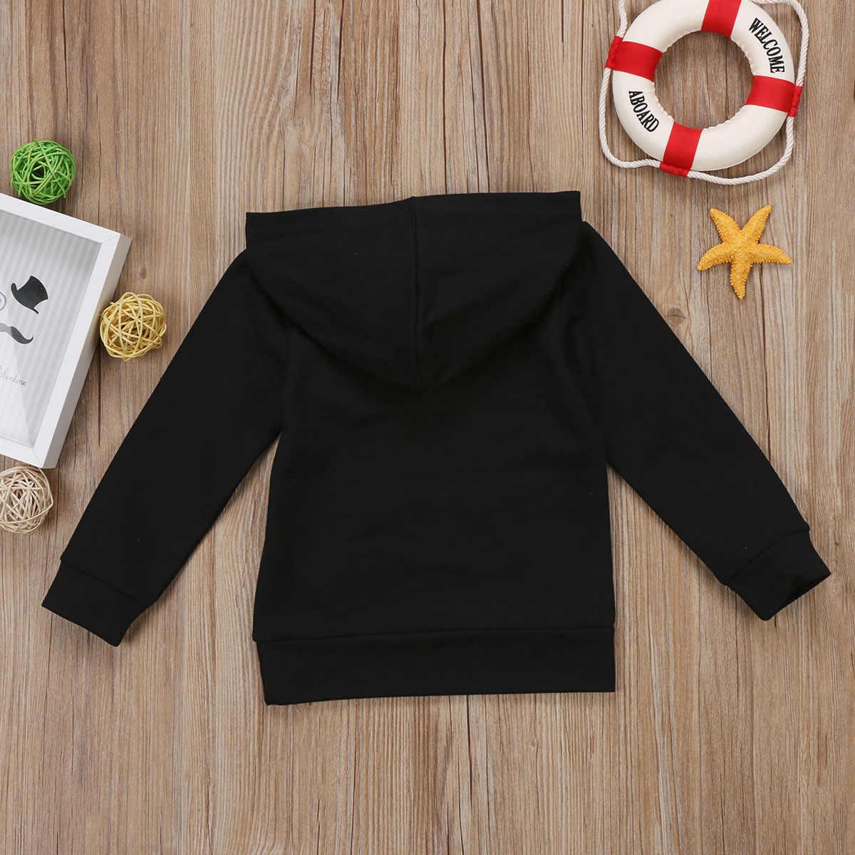 แฟชั่นเด็กวัยหัดเดินทารกแรกเกิดเด็กทารกเด็ก Hoodie เสื้อ Hooded Sweatshirt กลางแจ้ง 0-5 ครั้งเด็กทารกตัวอักษร Hoody เสื้อเหงื่อ