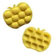 10 даже креативная силиконовая форма Яблоко Форма для желе, пудинга мыло холодного приготовления плесень DIY помадка торт инструмент украшения торта