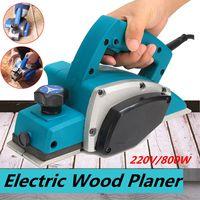 Superfície de madeira elétrica poderosa do woodworking do plano da porta da plaina de 220 v 800 w|Plaina elétrica| |  -