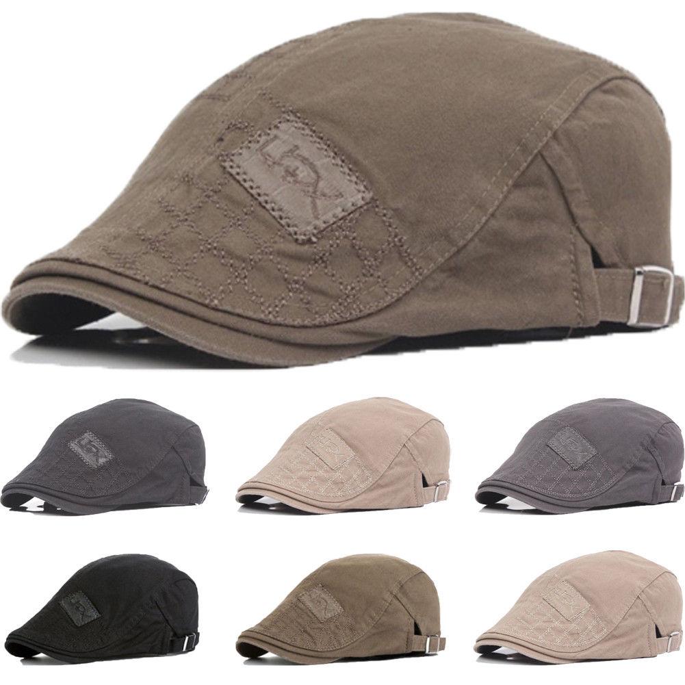Men's Plaids Duckbill Newsboy Gatsby Hat Caps Golf Driving Cabbie Beret Ivy Men Casual Cool Hats Cap