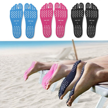 1 Pair Stickers Shoes Feet Care For Stick On Soles Sticky Pads Beach Sock Waterproof Hypoallergenic Adhesive Foot