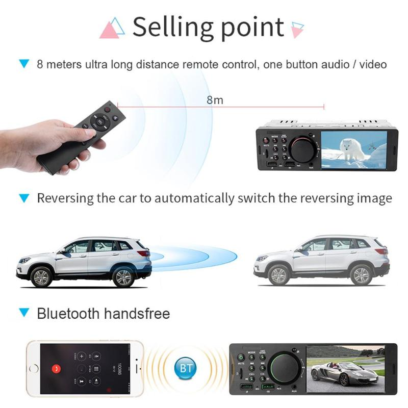 Image 5 - 7805 1Din 4.1 Inch Car Stereo Radio Bluetooth FM Aux USB Car MP5 Multimedia Player with Remote Control Support Rear View Camera-in Car Multimedia Player from Automobiles & Motorcycles
