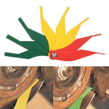 8 w 1 samochodowych klocek hamulcowy Feeler grubości okładziny Gauge miernik linijka tanie i dobre opinie CDIY Does not apply plastic Automotive Brake Pad Thickness Gauge Measure Ruler Tool 2 2cm 12 8cm China