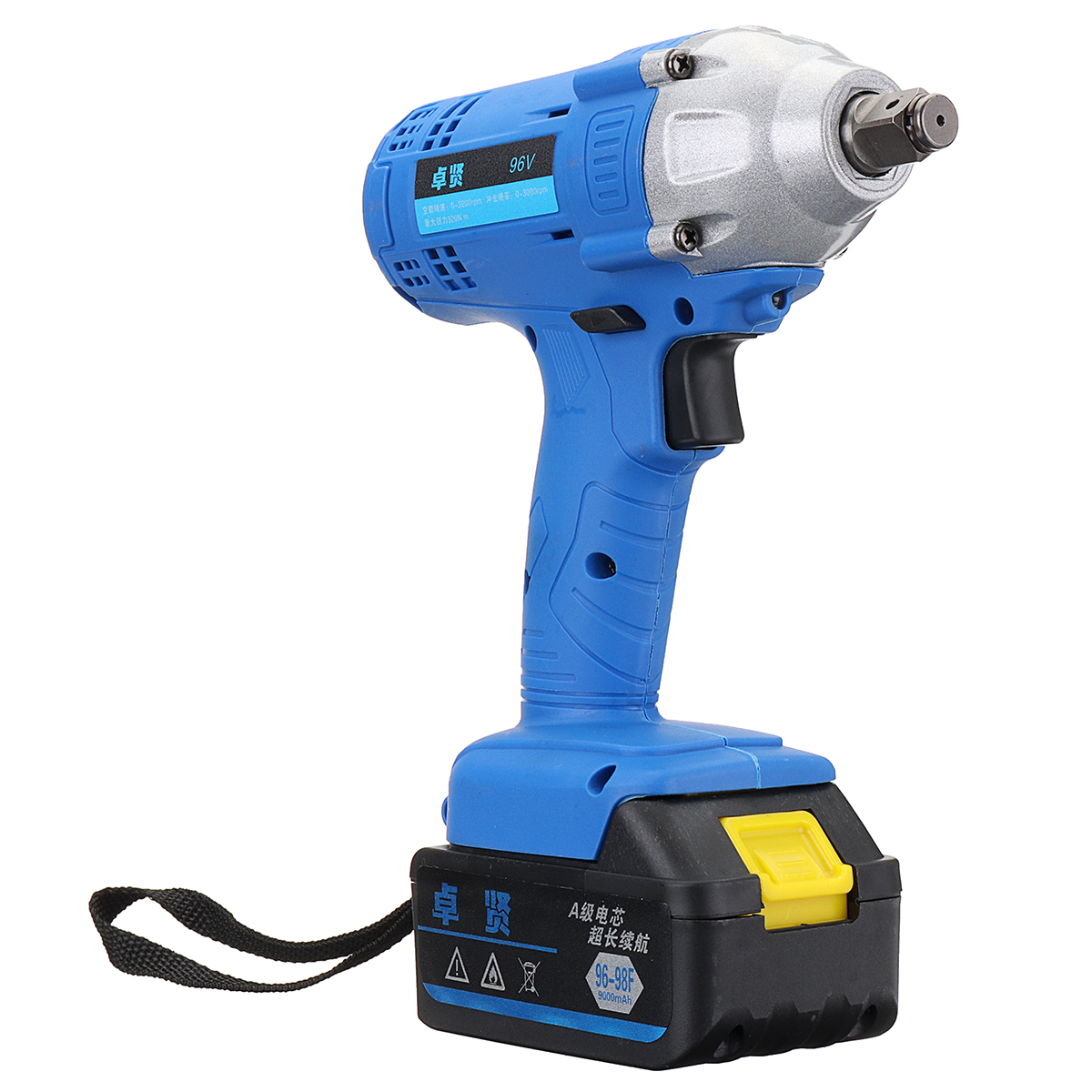 96v Cordless Impact Wrench 1 2 Inch Drive Li Ion Lithium Battery 320nm W Led Light Rechargeable Electric Drill In Wrenches From