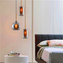 Noedic Led Glass Pendant Lights Bedroom Living Room Hotel Lighting Pendant Lamps Kitchen Fixtures Hanging Lamps Luminaire Avize nordic led acrylic art pendant lights bedroom modrn living room study pendant lamps stair villa lighting fixture luminaire avize