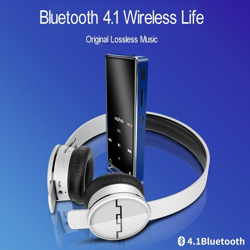HD enregistrement vocal Bluetooth MP3 lecteur de musique Portable baladeur 16G mémoire 4 couleurs prise en charge 128 GB SD Expansion 1.8 pouces écran - 5
