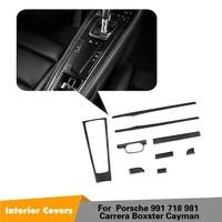 9pcs/set For Porsche 991 981 911 718 Boxster Cayman Coupe 2 Door Left Hand Driver Carbon Fiber Car interior Dashboard Trim Cover