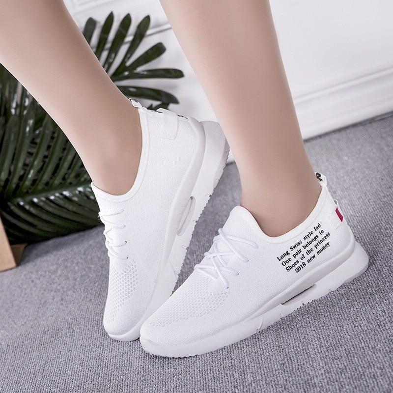 Fashion Summer Women Sneakers Casual White Mesh Shoes Flying Woven Women Sneakers Non-slip Light Running Woman Shoes Sneakers