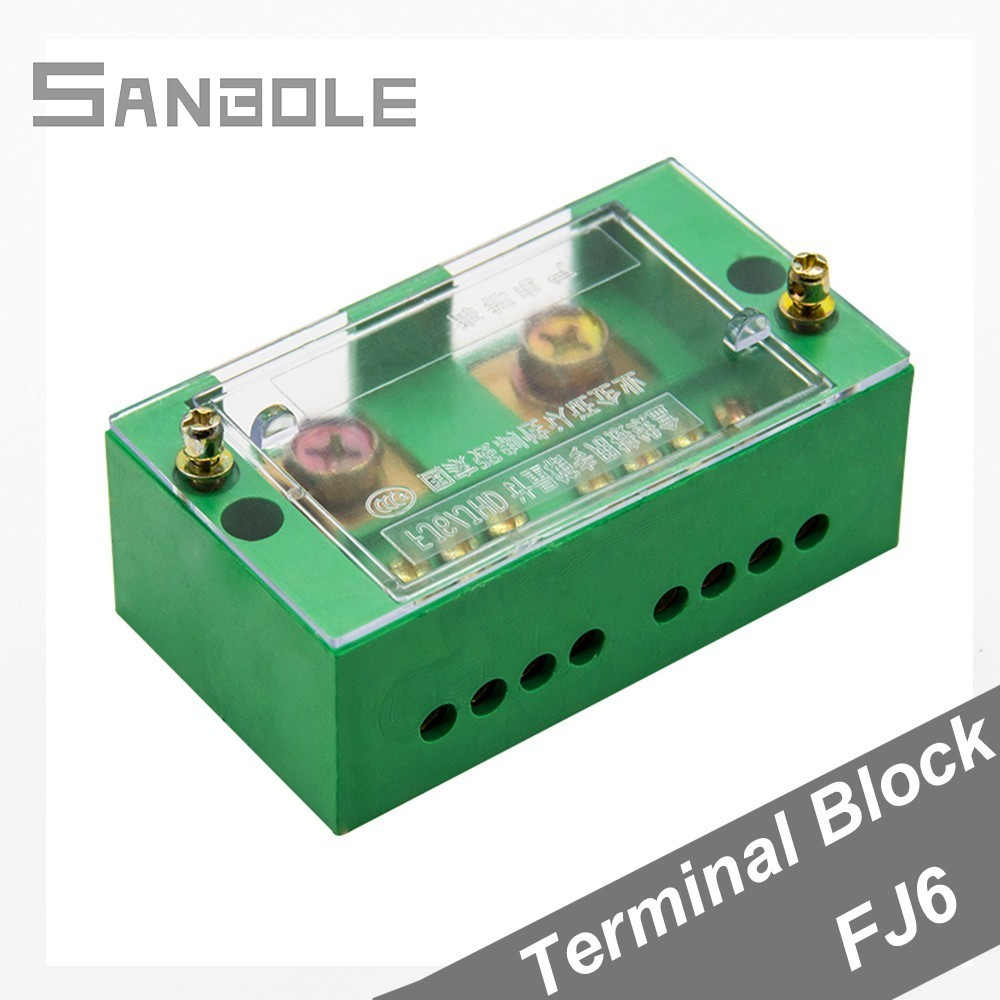 FJ6 Terminal Block Single-phase 2-IN 8-OUT Wire Connection Row 220V Household (Neutral Live Wire) Part Line Distribution BoxFJ6 Terminal Block Single-phase 2-IN 8-OUT Wire Connection Row 220V Household (Neutral Live Wire) Part Line Distribution Box