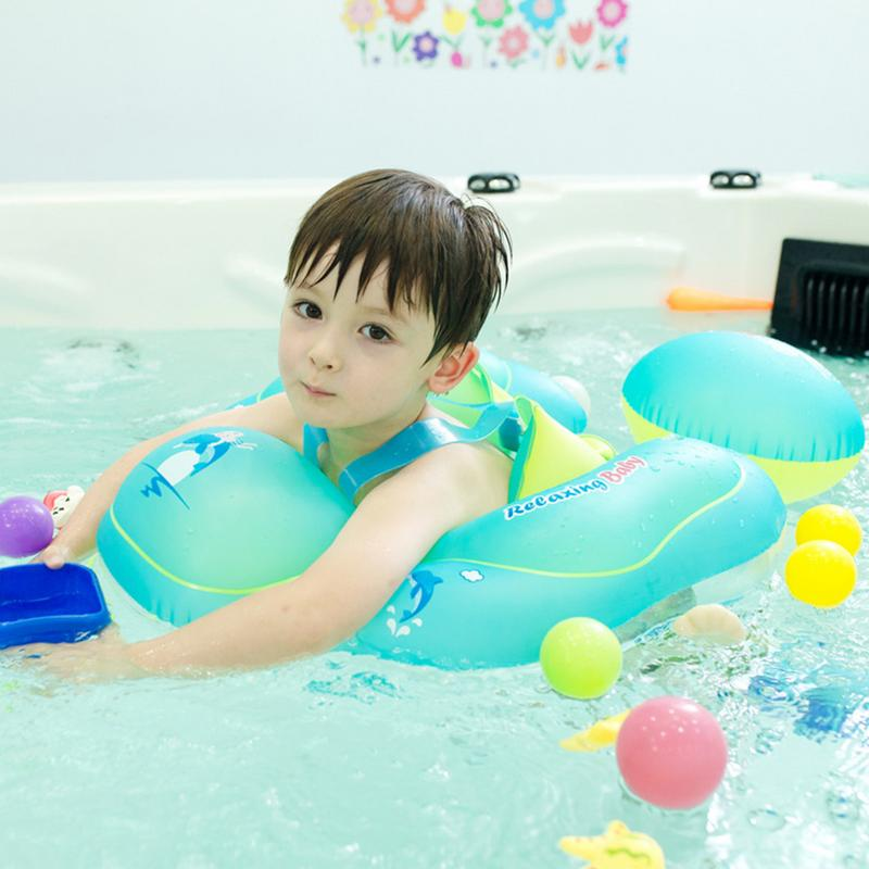 Solid Baby Swimming Ring Floating Children Waist Need Inflatable Floats Swimming Pool Toy For Bathtub And Pools Swim Trainer
