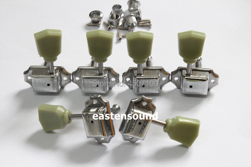 free shipping chrome 3 3 vintage guitar tuners with g logo lp guitar machine heads electric. Black Bedroom Furniture Sets. Home Design Ideas