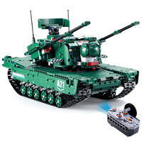 2019 New RC Blocks Tank Creative Toy Learning 2.4G 4 Channels Remote Control Car Element Building Blocks Toy Gifts for Kids