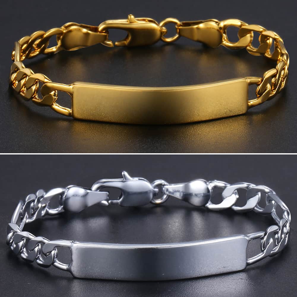 Baby 39 s Bracelet Gold Filled Figaro Chain Smooth Bangle Link Bracelet For Baby Child Boys Girls Nice Gifts 5mm 11 5cm KGBM100 in Chain amp Link Bracelets from Jewelry amp Accessories