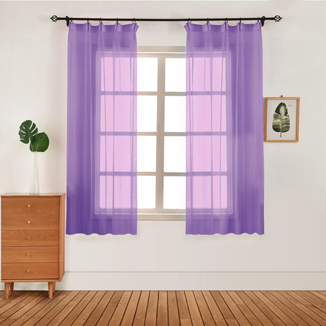 Home Decoration Modern Curtain Tulle Fabrics Organza Sheer Panel Curtain Living Room Bedroom Modern Window Tulle Curtains Decoration