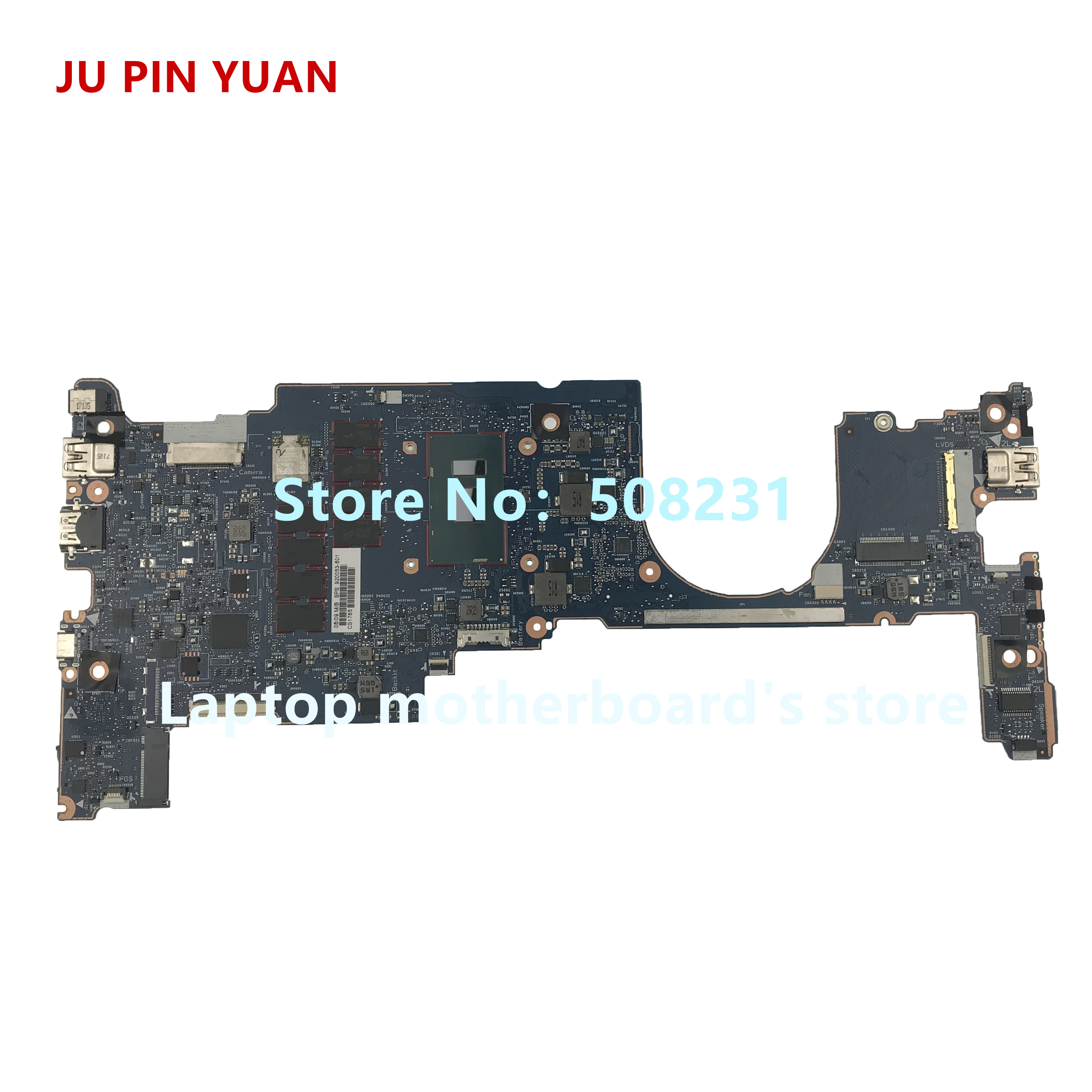 Laptop Accessories Ju Pin Yuan 920053-601 920053-001 For Hp Elitebook X360 1030 G2 Laptop Motherboard 6050a2848001-mb-a01 I5-7300u 8gb Fully Tested Sales Of Quality Assurance Computer & Office