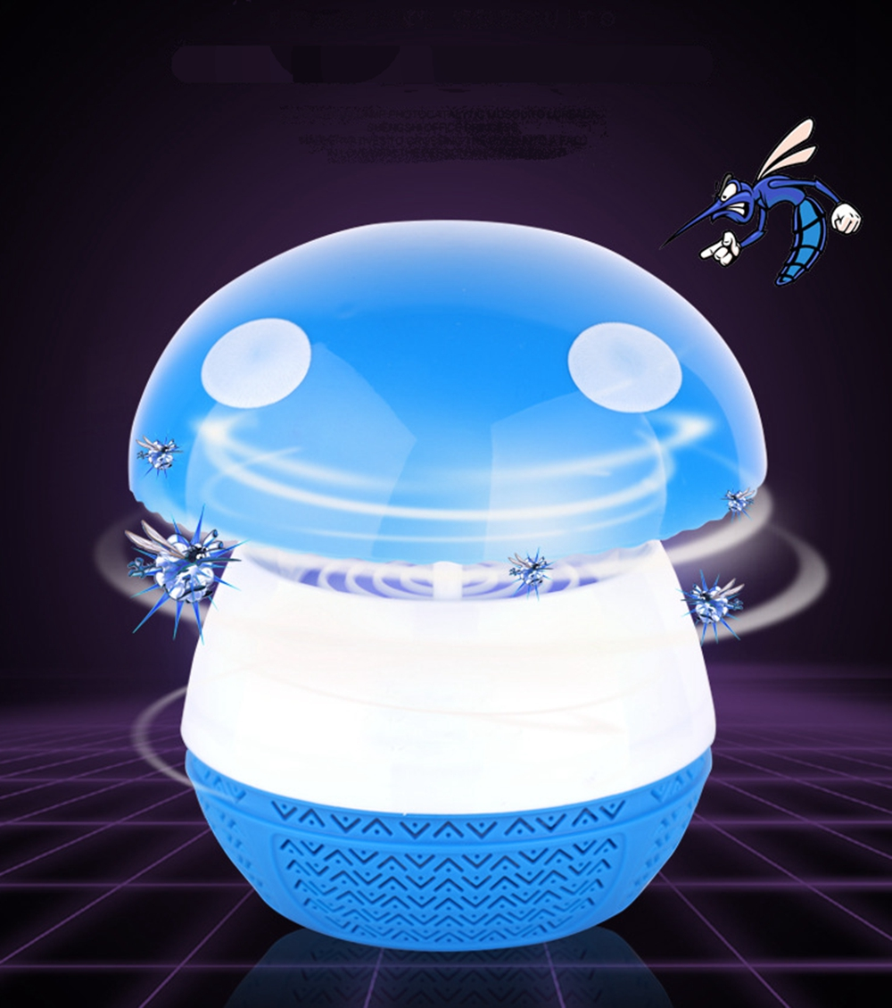 Electronics Mosquito Killer Trap Moth Fly Wasp Led Night Lamp Bug Insect Light Black Killing Pest Zapper Us Plug Pest Control