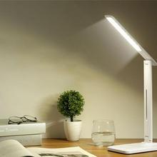 Светодиодный настольная лампа с тусклым режимом Настольная лампа с QI беспроводной выход USB зарядного устройства порт регулируемый свет Гибкая Современная Офисная настольная лампа