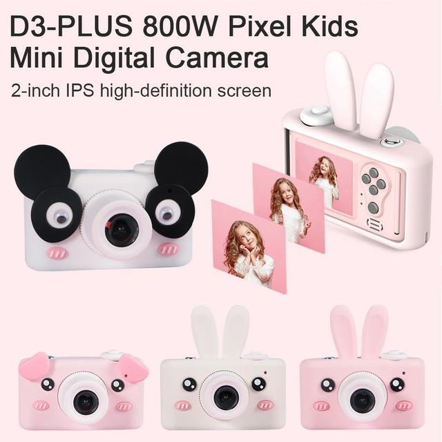 D3-PLUS 800 W Điểm Ảnh Trẻ Em Mini Máy Ảnh Kỹ Thuật Số Nhỏ Máy Ảnh SLR Mặt Nụ Cười Công Nhận Tập Trung Tự Động Lấy Nét Flash Điền Vào Ánh Sáng