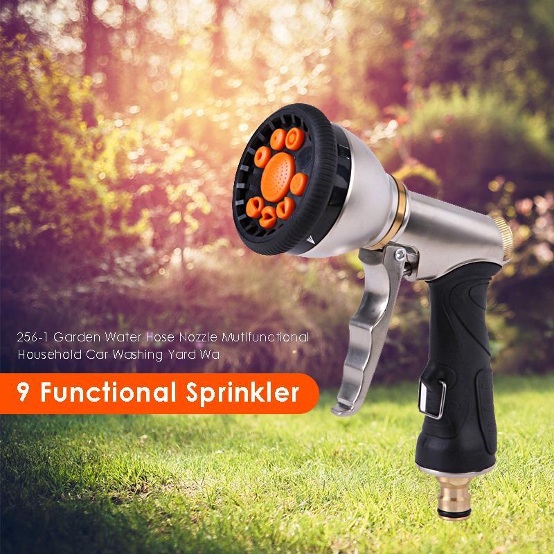Image 4 - 2019 New 9 Pattern Multifunctional High Pressure Sprinkler Garden Water Hose Nozzle  7 adjustable mode heads including shower-in Garden Sprinklers from Home & Garden