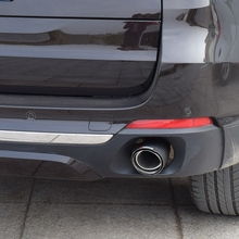 лучшая цена Automobile exhaust pipe modified tail laryngeal one in two for BMW x1 x5 x6 2pcs